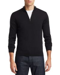 Saks Fifth Avenue - Collection Wool & Silk Zip Jumper - Lyst