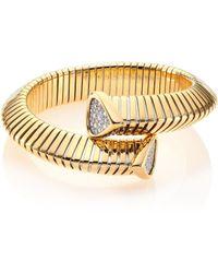 Marina B - Trisola Diamond & 18k Yellow Gold Coil Bracelet - Lyst