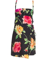 983746f11ce Off-White c o Virgil Abloh - Women s Floral Wrap Lingerie Dress - Black