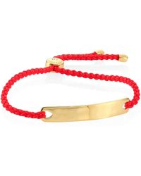 Monica Vinader - Havana Friendship Bracelet/coral - Lyst