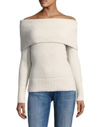 Rebecca Taylor - Off-the-shoulder Wool Blend Sweater - Lyst