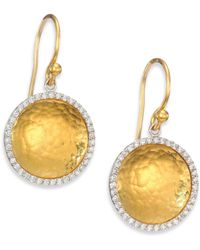 Gurhan - Hourglass Diamond & 24k Yellow Gold Small Drop Earrings - Lyst