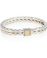 John Hardy - Chain Sterling Silver & 18k Bonded Yellow Gold Bracelet - Lyst