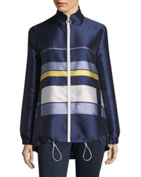 St. John - Double Face Stripe Twill Jacket - Lyst
