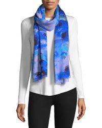 Bindya - Silk Cashmere Floral Scarf - Lyst