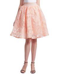 Maje - Joshua Floral Lace Skirt - Lyst