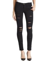 FRAME - Le Color Distressed Skinny Jeans - Lyst