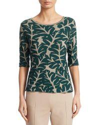 Akris Punto - Leaf-print Knit Pullover - Lyst