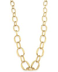 Vaubel - Graduating Edgy Oval Links Necklace - Lyst