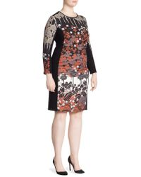 Stizzoli - Bodycon Floral Dress - Lyst