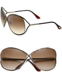 Tom Ford - Women's Miranda Oversized Round Sunglasses - Gold - Lyst