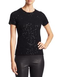 Saks Fifth Avenue | Collection Sequin Cashmere T-shirt | Lyst
