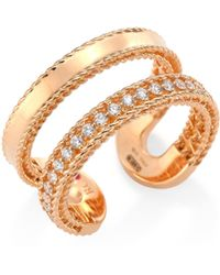 Roberto Coin - Double Symphony Diamond & 18k Rose Gold Ring - Lyst