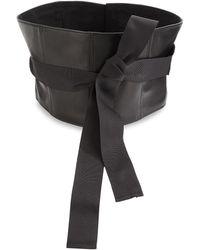 Brunello Cucinelli - Leather Corset Belt - Lyst