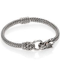 John Hardy - Naga 18k Yellow Gold & Sterling Silver Dragon Station Chain Bracelet - Lyst