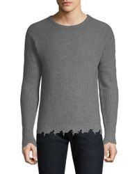 The Kooples - Distressed-trim Cashmere Pullover - Lyst