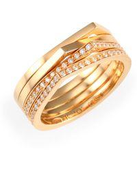 Repossi Antifer Diamond & 18k Rose Gold Four-row Ring - Metallic