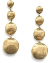 Marco Bicego - Africa 18k Yellow Gold Four-ball Drop Earrings - Lyst