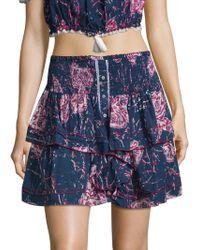 Poupette - Elodie Floral Mini Skirt - Lyst