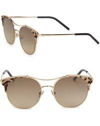 Jimmy Choo - Lues Leather Panthos Sunglasses - Lyst