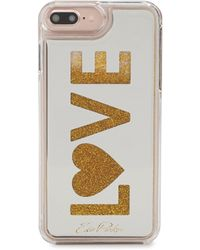 Edie Parker - Women's Floating Love Phone Case - White Gold - Lyst