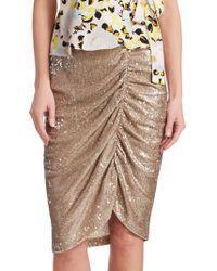 Nanette Lepore - Silver Screen Skirt - Lyst