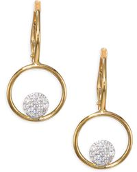 Phillips House - Affair Diamond Micro Infinity Loop Earrings - Lyst