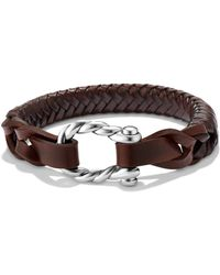 David Yurman | Maritime Woven Leather Bracelet | Lyst