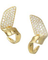 Ippolita - Stardust 18k Yellow Gold Small Twisted Pavé Ribbon Earrings - Lyst
