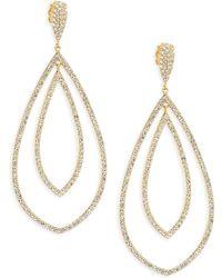 Adriana Orsini - 18k Yellow Goldplated Double Drop Earrings - Lyst