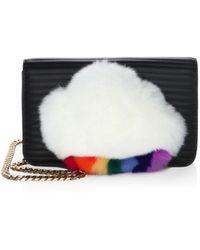 Les Petits Joueurs - Ginny Rabbit Fur Cloud Wallet - Lyst
