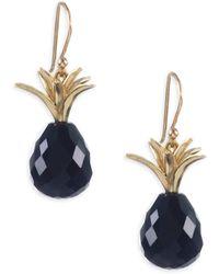 Annette Ferdinandsen - Black Onyx & 18k Yellow Gold Earrings - Lyst