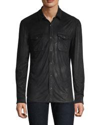 John Varvatos - Coated Button-front Shirt - Lyst