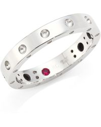 Roberto Coin - Pois Moi 18k White Gold Band Ring - Lyst