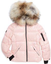 Sam. - Little Girl's Blake Fox-fur Trim Down Puffer Jacket - Lyst