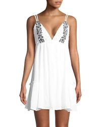 L*Space - Eliana Embroidered Cotton Summer Dress - Lyst