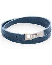 Miansai - Sterling Silver & Italian Leather Moore Wrap Bracelet - Lyst