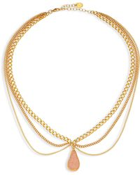 Chan Luu - Layered Chain & Agate Necklace - Lyst