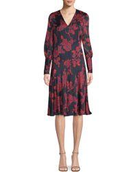 L.K.Bennett - Silk Chiffon Dress - Lyst