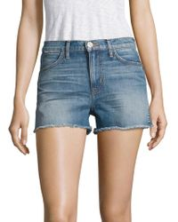 Hudson Jeans - Soko High-rise Cut-off Denim Shorts - Lyst