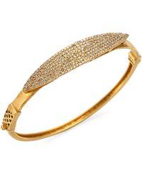 Bavna - 18k Gold & Diamond Pave Bangle - Lyst