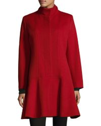 Sofia Cashmere - Cashmere Blend Funnel Neck Coat - Lyst
