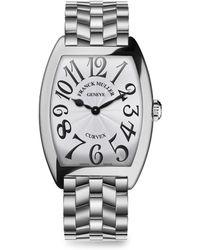 Franck Muller - Cintree Curvex Stainless Steel Bracelet Watch - Lyst