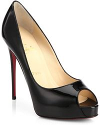 cdf8d04446 Christian Louboutin - Women's New Very Prive 120 Patent Leather Peep Toe  Pumps - Nude -
