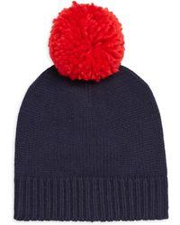 Sundry - Pom Pom Wool-blend Beanie Hat - Lyst