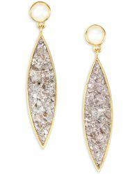 Shana Gulati - Holiday Agadir 6mm White Round Freshwater Pearl Drop Earrings - Lyst