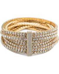 ABS By Allen Schwartz - Smoke & Mirrors Stretch Crystal Bracelet - Lyst