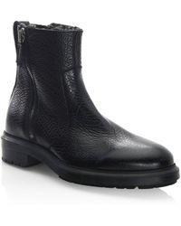 Aquatalia | Travis Leather Fur Boots | Lyst