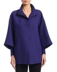 Akris Punto - Three-quarter Sleeve Wool Coat - Lyst