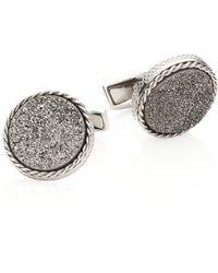 Tateossian - Textured Titanium & Silver Cuff Links - Lyst